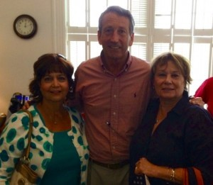 Maritza Schmidt and Peggy Chandler are always ready to support Mark Sanford.