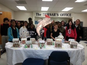 The students in Mrs. Winslow's Family Consumer Science Classes made gingerbread houses from scratch.