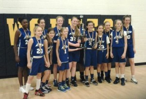 Riverview Charter School Stingrays won the St. Francis Tip Off Tournament recently on Hilton Head Island. The team consists of sixth to eighth grade girls.
