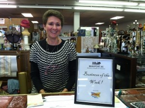 The Beaufort Regional Chamber of Commerce Business of the Week was The Collectors Antique Mall, 102 Sea Island Parkway, Lady's Island. Owner Jane Tarrance was presented with breakfast from Sonic.