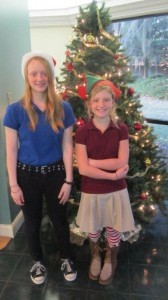 Lady's Island Middle School students Nicole Marsh and Chloe Gartner delivered Christmas cards in person to all the residents at Bayview Manor Nursing Home. The girls spent their afternoon reading the cards to the residents and wishing them a Merry Christmas and a Happy New Year.