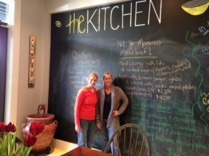 Leigh Ann Pingree, right, and her sister Michelle Clark at The Kitchen.