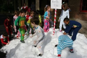 The Pre-K and Kindergarten students at Beaufort Academy were surprised to find snow at the end of their journey on the Polar Express. Many thanks to Triangle Ice and the Potter Family for donating the snow, to BA parent Will Gibbons for delivering it, and to BA parent Scott May for helping to prep it.