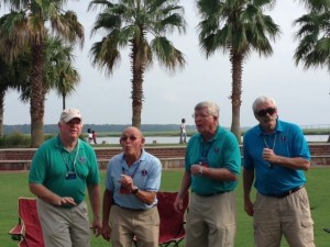 Tidal Fource, from left to right: Tenor John Devlin, former fire department chief in Colorado; baritone Hal McCann, retired educator from Massachusetts; Bass George McMurtry, entrepreneur from California; and lead Jim Rowe, Washington bureaucrat.