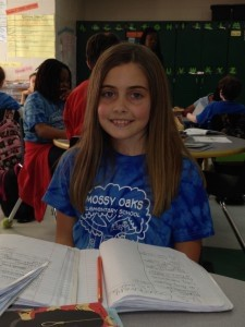 Rebecca Scheper, a student in 4th grade at Mossy Oaks Elementary, scored a perfect score on the Fall WordMasters Challenge. The WordMasters Challenge is a national vocabulary competition based on completing analogies. Rebecca was the only 4th grader from the state of South Carolina to score a perfect score.
