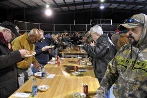 Men of all ages gathered at the Community Bible Church last Friday, January 24.
