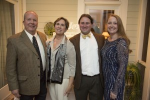 Co-chairs of this year's ball: Jim and Weezie Gibson with Aaron and Melissa Bliley.