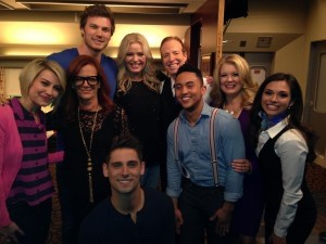 """Terry Sweeney and with the cast of """"Baby Daddy"""" on set in Hollywood."""