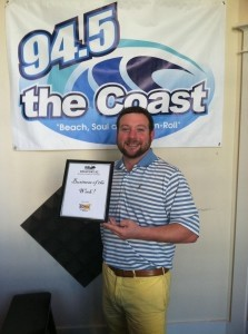 Each week, the Beaufort Regional Chamber of Commerce chooses a chamber business to honor and surprises them with a free breakfast compliments of Sonic. Pictured above is the business of this week, 94.5 The Coast.