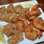Fried shrimp and oysters appetizer
