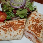 Biarritz wrap with side salad.
