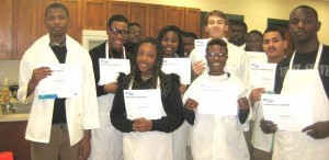 Beaufort High students recently were awarded ServSafe certification in their Foods and Nutrition classes. A total of 56 students passed this national exam, which is sponsored by the National Restaurant Association and helps students in obtaining jobs in the food service industry. The ServSafe course was administered at Beaufort High School in Mary Cunningham's and Toni Dimperio's classes by Mr. Robert Guinn, of the Clemson Extension Agency. Congratulations to these dedicated students on achieving this certification that will help them succeed in the world of work.