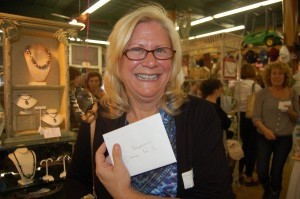 Mary Wallace was excited about winning a gift certificate for two to Steamers.