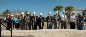 Coastal Carolina Hospital in Hardeeville held a groundbreaking ceremony for its new Women's Pavilion on Feb. 20. The Women's Pavilion, featuring a birthing center and other services for women,  is  scheduled to open late spring of this year. It will be the first time in eight years that babies are delivered at the hospital. Pictured, from left: Kathryn Mowery, Director, Women's Services at Coastal Carolina Hospital; Ashley VonNida, Chief Nursing Officer at Coastal Carolina Hospital; Amanda Dyle, Chief Financial Officer at Coastal Carolina Hospital; Mike Sweeney, Mayor ProTem, City of Hardeeville; Hardeeville Mayor Bronco Bostick; Hardeeville Interim City Manager Thomas Johnson; Rev. Thomas McClary, Chairman, Coastal Carolina Hospital Governing Board; Bradley S. Talbert, CEO of Coastal Carolina Hospital; Mark O'Neil, President/CEO, Hilton Head Regional Healthcare; Dr. Lance Lowe, Palmetto Pediatrics; Dr. Randy Royal and Dr. Meredith Mitchell, Riverside Women's Care.