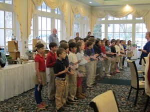"""Beaufort Academy students sing """"America the Beautiful."""""""