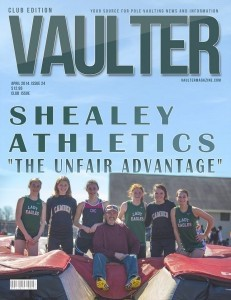 Beaufort High School pole vaulters on the cover of Vaulter magazine.