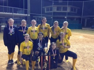 The 14 and under girls softball Badkatz team took first place at the 2014 Lady Lookouts Spring Classic on March 15.