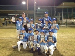 The Beaufort Waves took silver in the St Patrick's Day baseball classics in Pooler, Ga. on Saturday, March 15. Pictured above, top row from left: Graham Ruff, Griffin Siegel, Quade Mattews, Riley Thomson, Hunter Rast and Austin Doray. Bottom row, from left: Jack Carter Worrell, Jimmy Davenport, Harley Ward, Keegan Doray and Will Roberts. Coaches are Troy Davenport, left, Harley Ruff and Nick Thomson (not pictured).