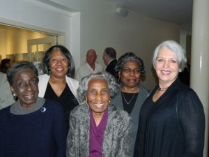 From left: Vivian Pigler, Andrea Allen, Lois Jenkins and Veronica Harvey with BMH Foundation Executive Director Alice Moss at the Duke Symphony Orchestra concert.