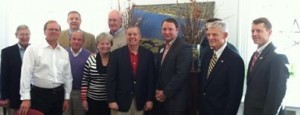 U.S. Senator Lindsey Graham met with members of the Military Enhancement Committee and Beaufort Regional Chamber on Friday, March 14 at The Arsenal to give an update from Washington, D.C.