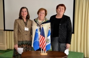 At a recent meeting of the Thomas Heyward, Jr. Chapter of the Daughters of the American Revolution, Registrar Weedy Servaes (center) was pleased to present Candy Matera (left) and Patti O'Leary (right) to the membership. The ladies were officially inducted into the National Society.  In order to qualify for membership prospects must prove that they are direct descendants of Patriots of the Revolutionary War.  Patriots either participated in the military or provided support to the cause that freed the American Colonies from the rule of the British. For more information about the DAR, please contact Chapter Regent Harriett Bosiak at 466-0305.