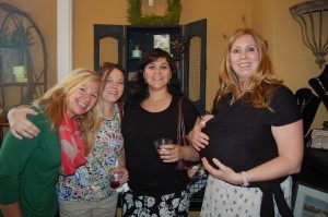 The happy staff from Beaufort Day Spa mingles at Island Girls Night Out in Nuances in Port Royal last Wednesday, April 9.