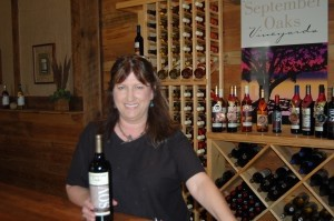 Knowledgeable wine consultant Annette introduces the award-winning wines during tastings at September Oaks.