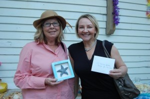 Tina Fripp won a starfish frame and Kim Turner won a gift certificate for Imagine Your True Colors salon.