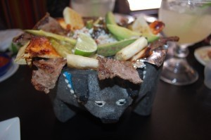 Molcajete with a margarita!