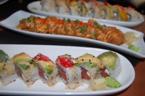 The T-Rex roll, the Crunch roll, and the Mango Tango roll.