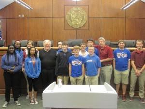 LIMS Jr. Leadership Class visited City Hall and Beaufort Mayor Billy Keyserling.