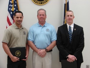 The Beaufort County Sheriff's Office wishes to congratulate the following personnel in recognition of their achievement and dedication. Effective as of the Friday, April 11, ceremony, Sheriff's Office staff members Douglas Seifert, Sergeant, and Dominic Dotson, 911 System's Tech I, have been promoted.