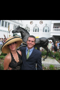 Melanie and Brian McCafree at the Kentucky Derby.