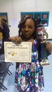 Kahlia Edwards was the winner of the Whale Branch Elementary School Spelling Bee that was held March 6.
