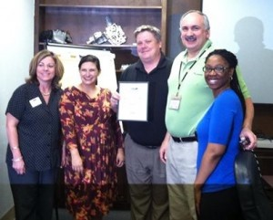 Each week, the Beaufort Regional Chamber of Commerce chooses a chamber business to honor and surprises them with a free breakfast courtesy of Sonic. Pictured above is the Business of the Week, Parker Hannifin. From left: Valerie Althoff, Blakely Williams, Jack Kiessling, Kurt Dimitrov and Tiffany Singleton.