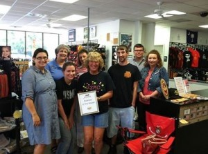 Each week, the Beaufort Regional Chamber of Commerce chooses a chamber business to honor and surprises them with a free lunch courtesy of Sonic of Beaufort. The Business of the Week is The Corps Store.