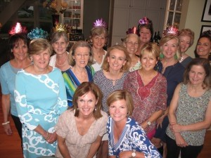 Members of the Ex Libris book club. Front, from left: Gwen Sanders and Sandra Myrick. Second row: Nancy Brown, Valerie Fisher, Vicki Mix, Rosemary Cuppia and Audrey Montgomery. Third row: Cindy Newman, Mary Sanders, Mary Segars, Priscilla Coleman, Fleetwood Bradshaw. Back row: Kathy Kilgore, Sally Post and Frances Cherry.
