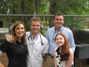 From left: Alison and Dr. Mark Guilloud, Marvin and Campbell Dukes.