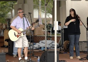 Members of the Amber and the Fossils band entertain the crowed during the annual Taste of Beaufort on Saturday at the Waterfront Park. Photo by Bob Sofaly.