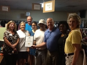 Each week, the Beaufort Regional Chamber of Commerce chooses a chamber business to honor and surprises them with breakfast courtesy of Sonic. Pictured is the Business of the Week, the nonprofit HELP of Beaufort.