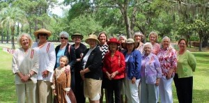 From left: Judith Ericksen, Chapter President, Jeanne Rogers, Priscilla Aimar and granddaughter Amelia Burrus, Louise Murray, Nancy Crowther, Anita Henson, Gladys Cousar, Judy Weerstra, Eliza Oliwa, Dorothy Mosior, Betty Degler, Priscilla Perkins, Elaine Sutcliffe and Judy Blankenship.