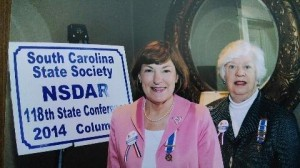 The South Carolina Daughters of the American Revolution Annual Spring Meeting was held in Columbia earlier this year, and past and future regents of the Thomas Heyward, Jr. Chapter of Beaufort attended. Incoming Regent Harriett Bosiack, left, and past Regent Nancy Crowther attended and were impressed with presentations regarding the historic, civic, and patriotic projects attributable to DAR locally, statewide and nationally.