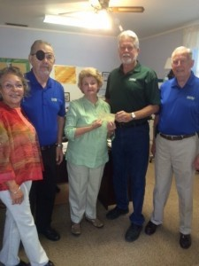 The Disabled American Veterans Commander Chris Swan and his officers present a check to Pastor Angie Bridges at Port Royal United Methodist Church for their Piano Fund, for their gracious support in allowing Chapter #12 to hold their meetings in their fellowship hall. For more information about DAV, contact Ron Voegeli at 843-812-2796 or rvoegeli@hargray.com.