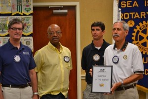Each week, the Beaufort Regional Chamber of Commerce chooses a chamber business to honor and surprises them with a meal courtesy of Sonic. Pictured is the Business of the Week, the Sea Island Rotary Club.
