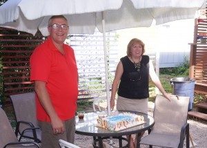 The birthday boy, Eric Smith, and his wife Susan.