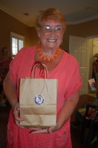 BJ Merritt won a gift bag of goodies from Lowcountry Produce.