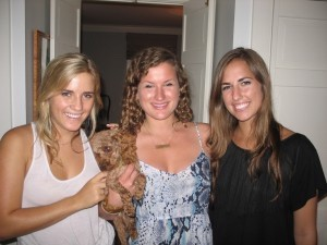 Bailey Guilloud, Isabelle Trask and Clare Hatcher