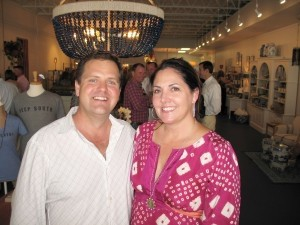Corey and Ann Higgins are seen at the grand opening of their store Scout Southern Market on Bay Street.