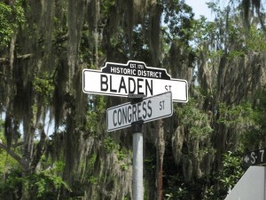New old-style street signs to be installed in the city of Beaufort historic district.