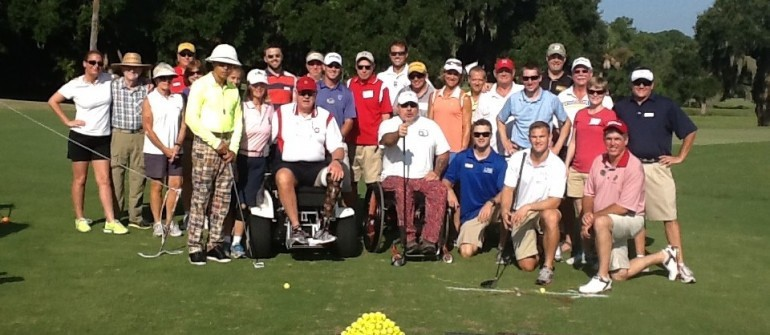 Adaptive golf event held at Legends Parris Island